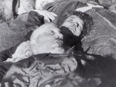 Mussolini S Death Together With His Mistress Clara Petacci