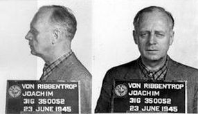 Joachim Von Ribbentrop Mugshot