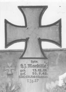 Grab des deutschen Jagdfliegers Hans-Joachim Marseille in Ägypten.