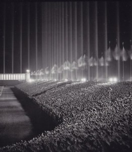 Nazi rally in the Cathedral of Light c. 1937