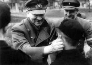 Hitler & Artur Axmann with Hitlerjugend