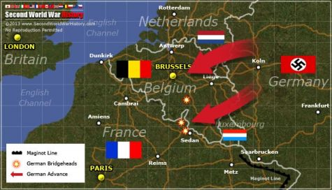 With France Secure Along Its Famed Maginot Line The German Army